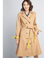 ModCloth Classic Imagination Trench - Brown