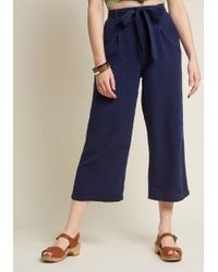 ModCloth - Call It Confidence Wide-leg Cropped Pants - Lyst