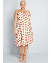 1f4d9dcd29040 Emily and Fin - Modcloth X Darling On The Double A-line Dress - Lyst