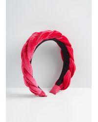 ModCloth Benevolently Braided Headband - Vintage Inspired - Pink