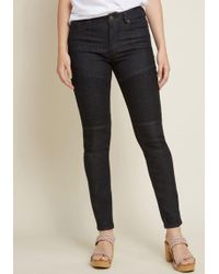 ModCloth - Edgy As Ever Moto Skinny Jeans - Lyst