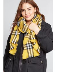 ModCloth Makes The Look Blanket Scarf - Scholastic By - Yellow
