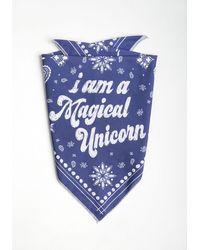 ModCloth Magical Unicorn Pet Bandana - Blue