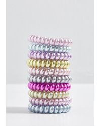 ModCloth - Delightful Night In Coil Hair Tie Set - Lyst