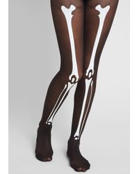 ModCloth - So Bones About It Tights - Size Os - Lyst