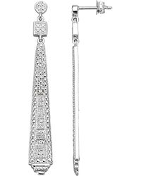 KLiNGEL Oorstekers Met Ijsdiamanten Zilverkleur - Metallic