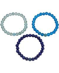 KLiNGEL Set Van 3 Armbanden Blauw