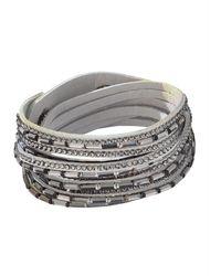 KLiNGEL Wikkelarmband Met Kristalsteentjes - Grijs