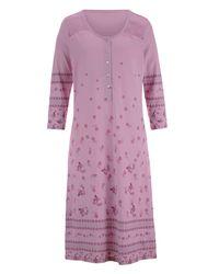 Harmony Nachthemd Lila/prune/groen - Paars