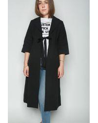 Sara Lanzi Short Sleeve Coat - Black