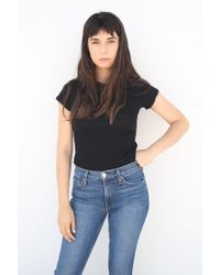 RE/DONE - Short Sleeve Bodysuit - Lyst