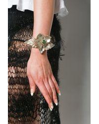 Rodarte Flower Bracelet With Swarovski Crystal Detail - Multicolor
