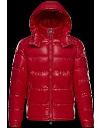 Moncler Puffer Jacket in Red for Men Lyst