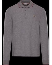 f22b3e4318f5 Moncler Slim Fit Classic Long Sleeved Polo Navy in Blue for Men - Lyst