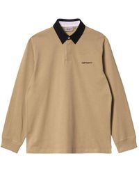 Carhartt WIP L/s Cord Rugby Polo - Natural