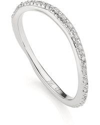 Monica Vinader - Fiji 18ct Rose Gold Vermeil And Diamond Skinny Hoop Earrings - Lyst