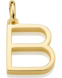 Monica Vinader - Alphabet Pendant B - Lyst