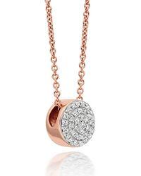 Monica Vinader Ava Button Necklace - Pink
