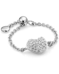 Monica Vinader Nura Mini Heart Friendship Chain Ring - Metallic