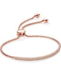 Monica Vinader Stellar Diamond Mini Bar Bracelet - Metallic