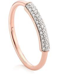 Monica Vinader Stellar Diamond Stacking Ring - Metallic