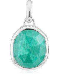 Monica Vinader - Riva Mini Circle Necklace - Lyst