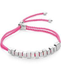 Monica Vinader Linear Ingot Friendship Bracelet - Pink