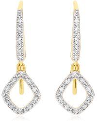 Monica Vinader - Riva Mini Kite Drop Diamond Earrings - Lyst
