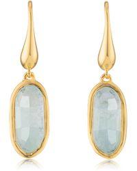 Monica Vinader Vega Drop Earrings - Metallic