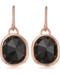 Monica Vinader Siren Wire Earrings - Black
