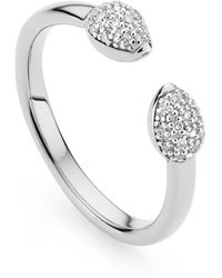 Monica Vinader Fiji Bud Stacking Diamond Ring - Metallic