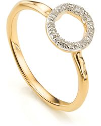 Monica Vinader - Riva Mini Circle Stacking Ring - Lyst