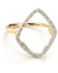 Monica Vinader - Riva Hoop Cocktail Ring - Lyst
