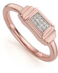 Monica Vinader | Baja Deco Diamond Ring | Lyst