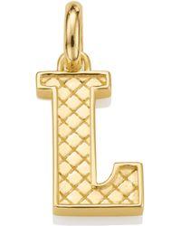 Monica Vinader Gold Vermeil Alphabet Pendant A-z - Metallic