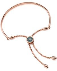 Monica Vinader - Fiji Evil Eye Toggle Bracelet - Lyst