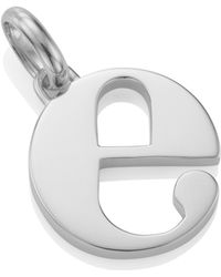 Monica Vinader Alphabet E Pendant Charm - Metallic