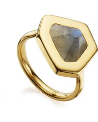Monica Vinader   Petra Stacking Ring   Lyst