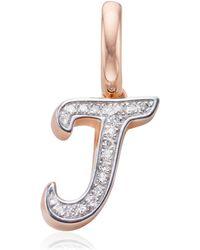 Monica Vinader - Alphabet J Diamond Pendant Charm - Lyst