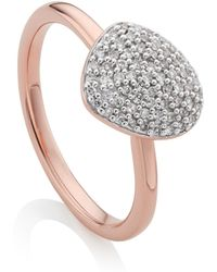Monica Vinader - Nura Small Pebble Stacking Ring - Lyst