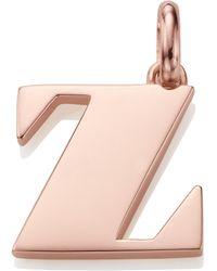 Monica Vinader - Alphabet Z Pendant Charm - Lyst