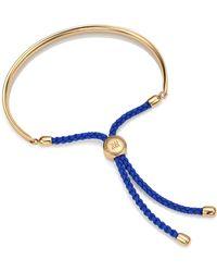 Monica Vinader Fiji Friendship Bracelet - Blue