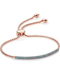 Monica Vinader - Stellar Diamond Mini Bar Bracelet - Lyst
