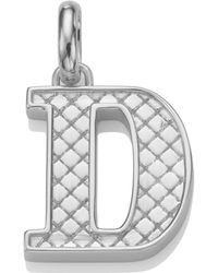 Monica Vinader Silver Alphabet Pendant D - Metallic