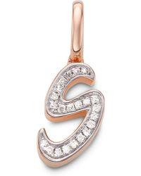 Monica Vinader - Diamond Alphabet Pendant S - Lyst