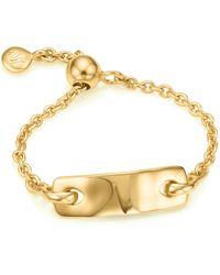 Monica Vinader Havana Adjustable Friendship Ring - Metallic