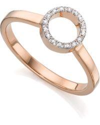 Monica Vinader - Naida Mini Circle Open Ring - Lyst