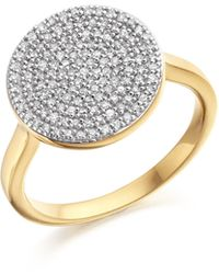 Monica Vinader - Ava Disc Ring - Lyst