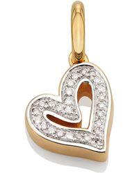 Monica Vinader - Alphabet Heart Diamond Pendant Charm - Lyst