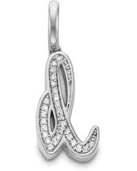 Monica Vinader Alphabet A Diamond Pendant Charm - Metallic